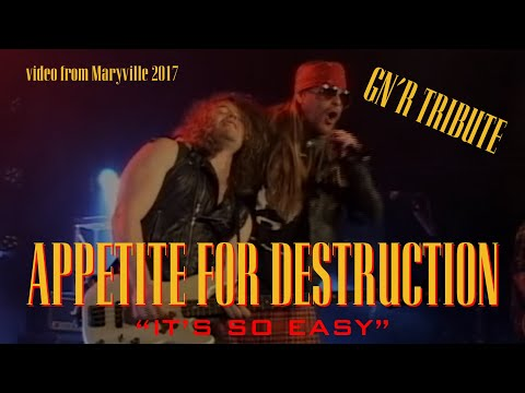 It's So Easy – Cover by – Appetite For Destruction