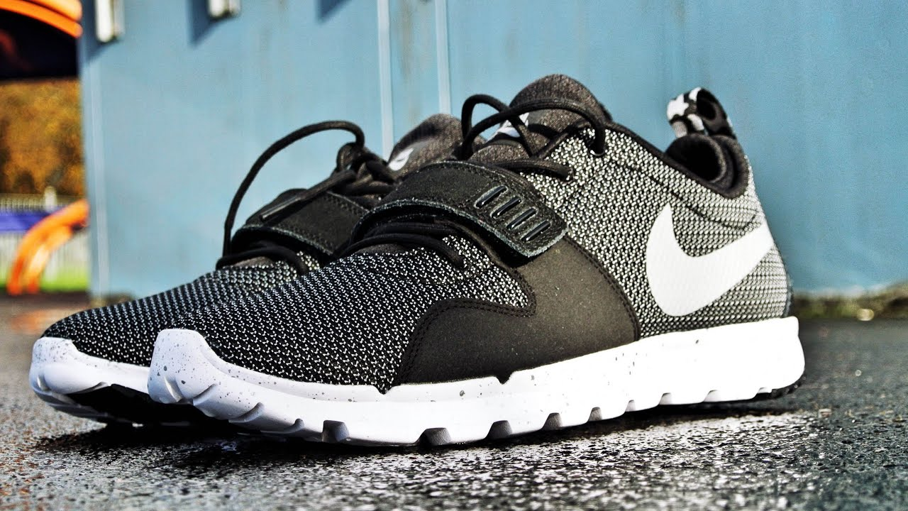 Nike SB Trainerendor in Black  Metalic Silver  On Feet Footage HD   YouTube