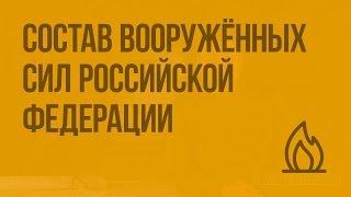 Состав Вооружённых сил Российской Федерации. Видеоурок по ОБЖ 10 класс