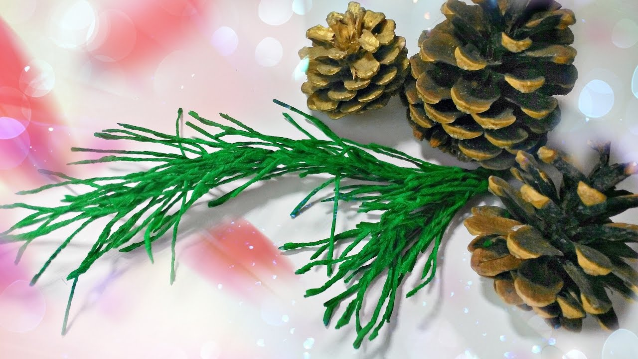 How To Make Pine Branch DIY Crepe Paper Christmas Tree