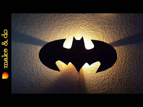 How to make a batman wall light youtube how to make a batman wall light aloadofball Choice Image