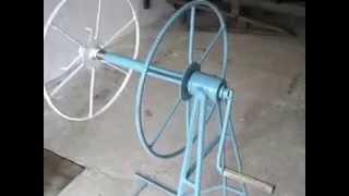 Станок для намотки и размотки шланга капельного орошения в съемную бухту