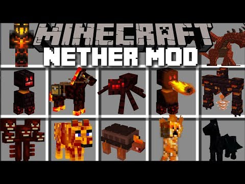 Minecraft NETHER MOD / TRAVEL TO THE NETHER AND FIGHT MOBS!! Minecraft