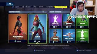 FORTNITE NEGOZIO 23 MARCH! SKIN SKULLY! VOLANTE CARPA! SOURCE SC-DIWI98