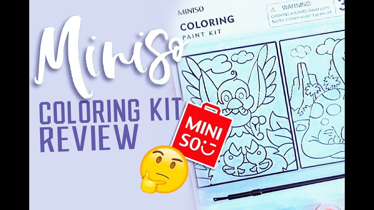 Miniso Coloring Kit Review Youtube