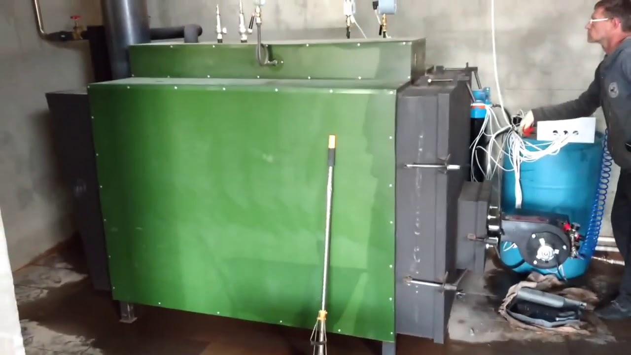 Парогенератор НовоПар на отработанном масле 100 кг пара в час