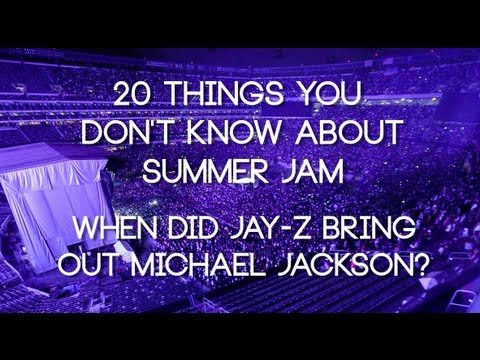 When did Jay-Z bring out Michael Jackson at Summer Jam?