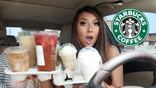 Trying MY Subscribers FAVORITE Starbucks Drinks! ... 🤢