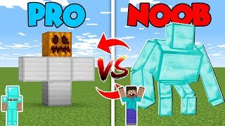 Minecraft NOOB vs. PRO : GIANT GOLEM CHALLENGE in Minecraft (Compilation)