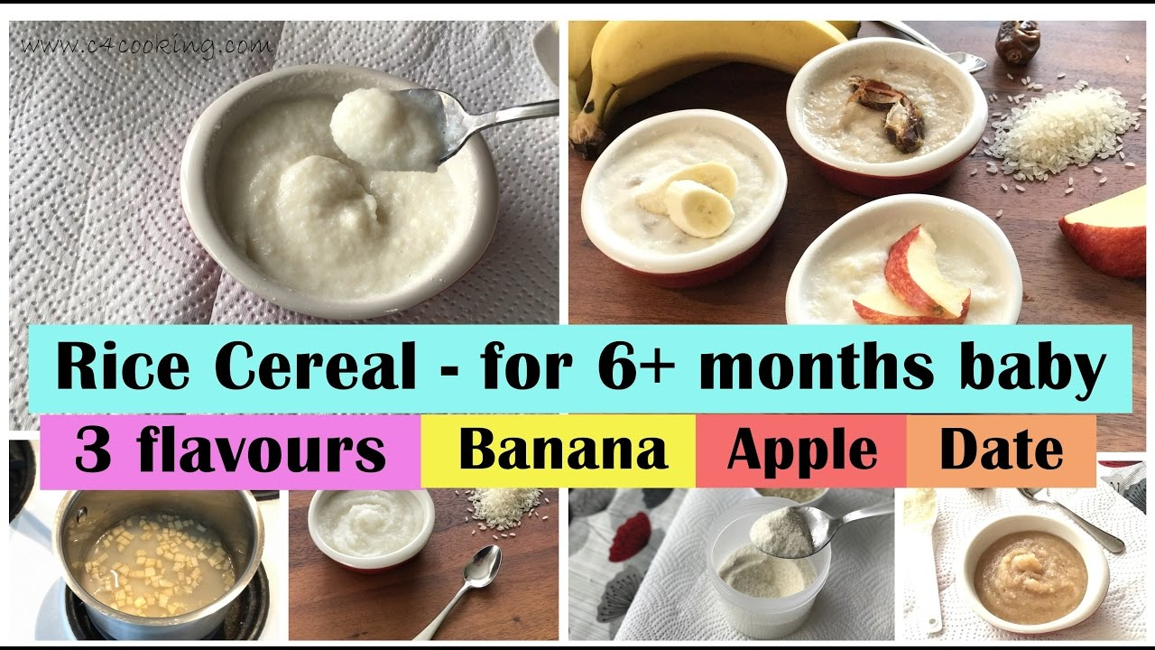 Rice cereal recipe for 6 months baby with 3 flavours apple rice cereal recipe for 6 months baby with 3 flavours apple banana date 6months babyfood ccuart Choice Image
