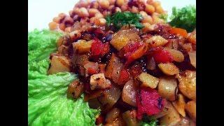 Овощное Рагу с Кабачками и Чечевицей (Нутом) Вегетарианский Рецепт