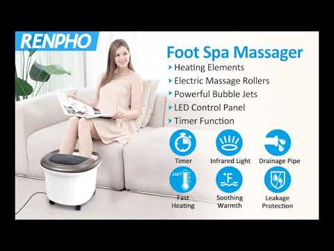 RENPHO Foot Spa Massager With Heat, Rollers And Bubble Jets And 11 Customer Answered Questions