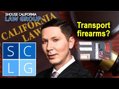 How can I transport firearms legally in California?