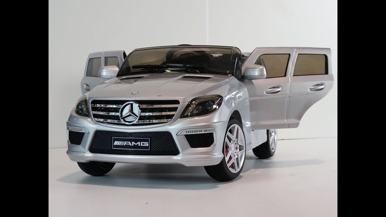 Electric ride on car for kids mercedes ml 63 amg licensed for Mercedes benz ride on