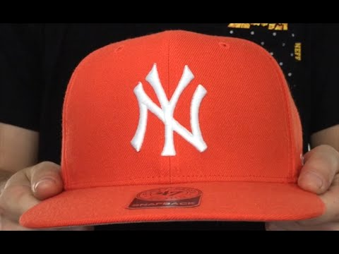 a4207d40b20 Yankees  SURE-SHOT SNAPBACK  Orange Hat by Twins 47 Brand - YouTube