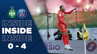 VIDEO: INSIDE : ST-ETIENNE vs PARIS SAINT-GERMAIN (0-4)