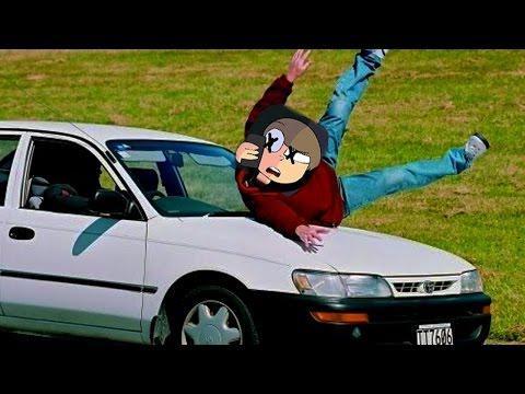 HE GOT HIT BY A CAR...
