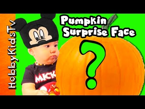 Surprise pumpkin face hobbygator meets mickey mouse for Surprised pumpkin face