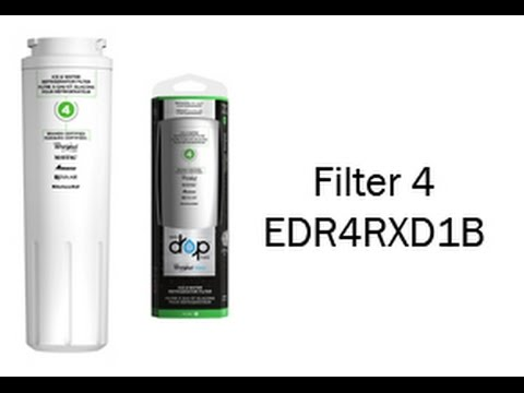 Whirlpool EveryDrop Refrigerator Water Filters - EDR4RXD1B Filter 4 Installation Video