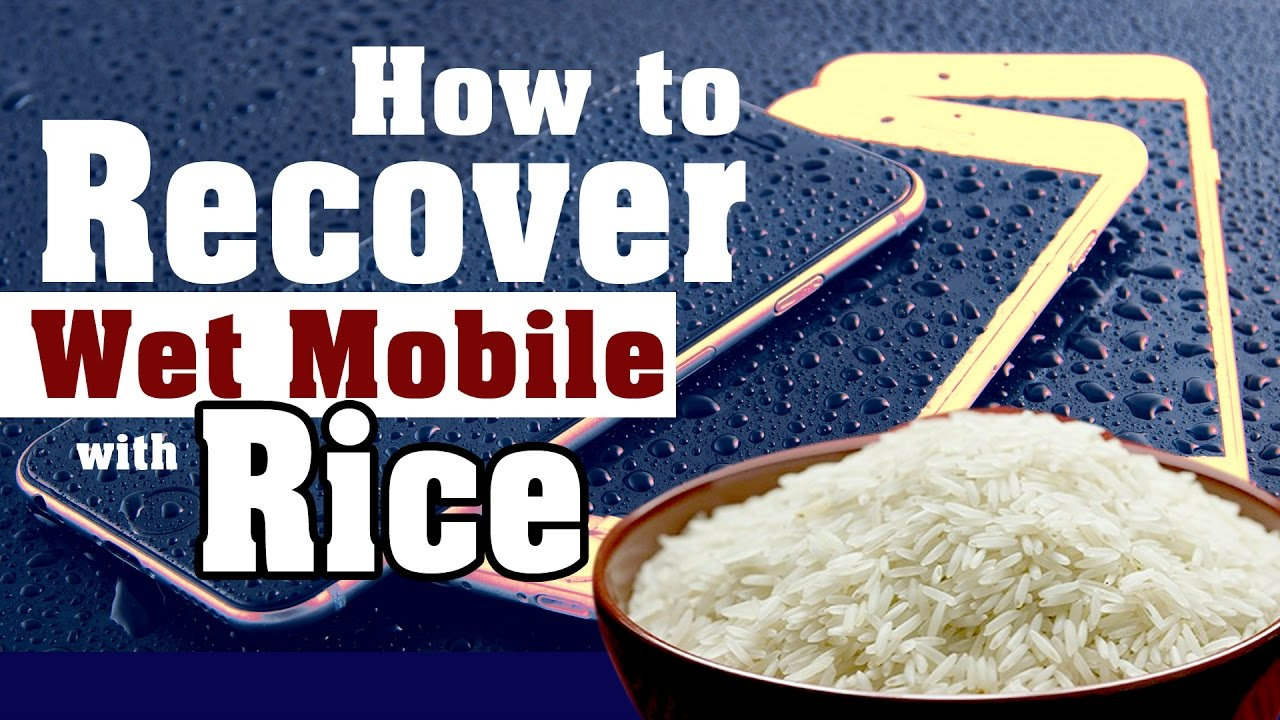how to recover wet cell phone with a bowl of rice can do this youtube. Black Bedroom Furniture Sets. Home Design Ideas