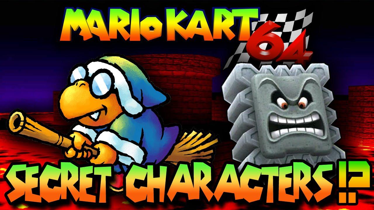 Mario Kart 64 Secret Characters Mystery Bit Tetrabitgaming Youtube