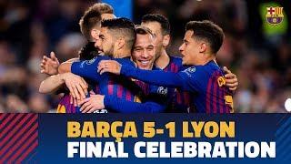 BARÇA 5-1 LYON | Camp Nou celebrates a place in the Champions League quarter finals