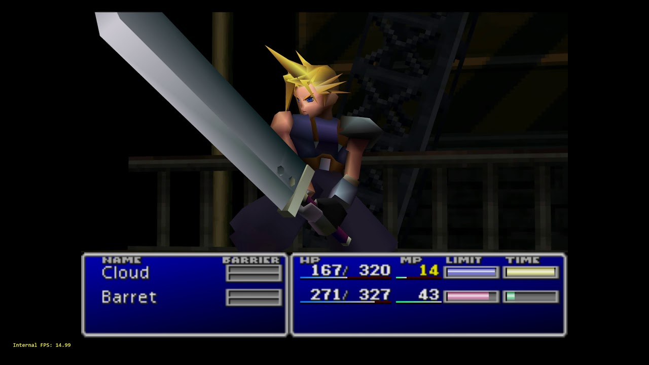 Beetle PSX HW - RetroArch - Final Fantasy VII - Adaptive smoothing with all  settings maxed out