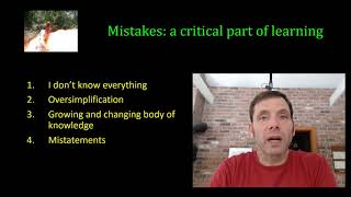 Mistakes in teaching and learning, why they are necessary and valuable