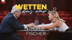 Wetten, das war's.? Frank Elstner trifft Helene Fischer