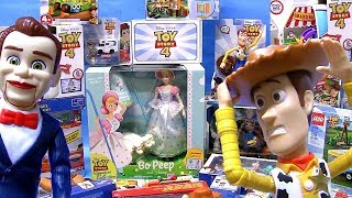 Toy Story 4 TOYS Surprise HUGE Collection 2019 Dummy Woody Bo Peep Toys review