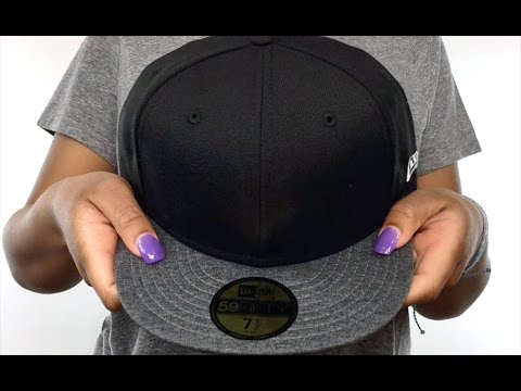 0046b1e07 New Era '59FIFTY-BLANK' Black-Shadow Tech Fitted Hat