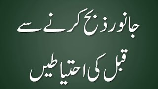 Janwar Zibah Karne Se Qabal Ahtiyatain - Madani Guldasta 556 - Maulana Ilyas Qadri