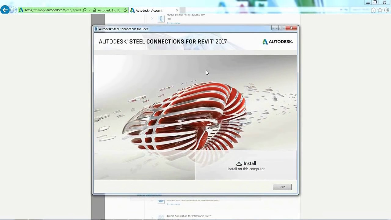 Install the Autodesk® Steel Connections for Revit®