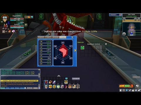 Digimon Masters Online - Comparing Sizes 120% to 129% is it worth it??