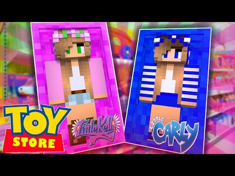 Minecraft TOYSTORE: LITTLE KELLY AND CARLY ARE DOLLS! (CustomRoleplay)