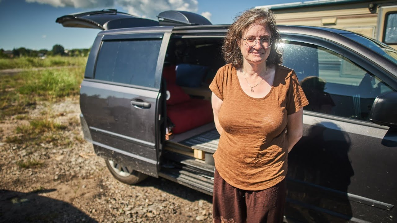 Solo Female Van life! Tour of a Stealth minivan camper build.