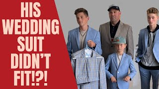 His WEDDING suit didn&#39t FIT!?
