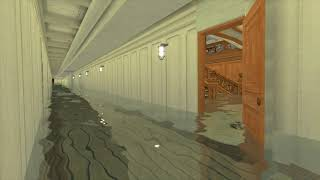 Titanic Grand staircase flooding | Roblox Titanic (1997 Edition)