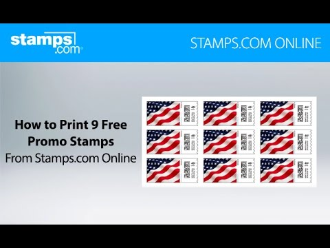 Print Your 9 Free Postage Stamps With Stamps Com Online