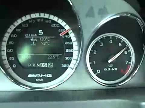 Mercedes C63 Amg Top Speed Baku Night Ride Youtube