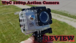Budget action cam Artek W9C Full HD Wifi action sports camera unboxing