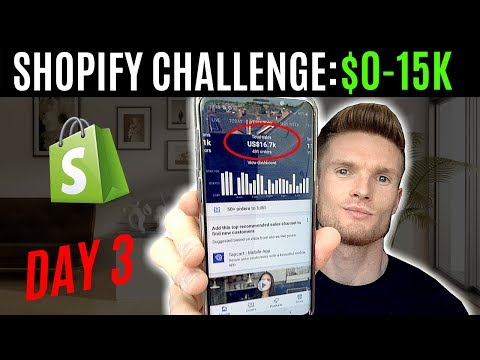 DAY 3 | SHOPIFY CHALLENGE $0-15K | VIDEOS ADS TUTORIAL FOR DROPSHIPPING thumbnail