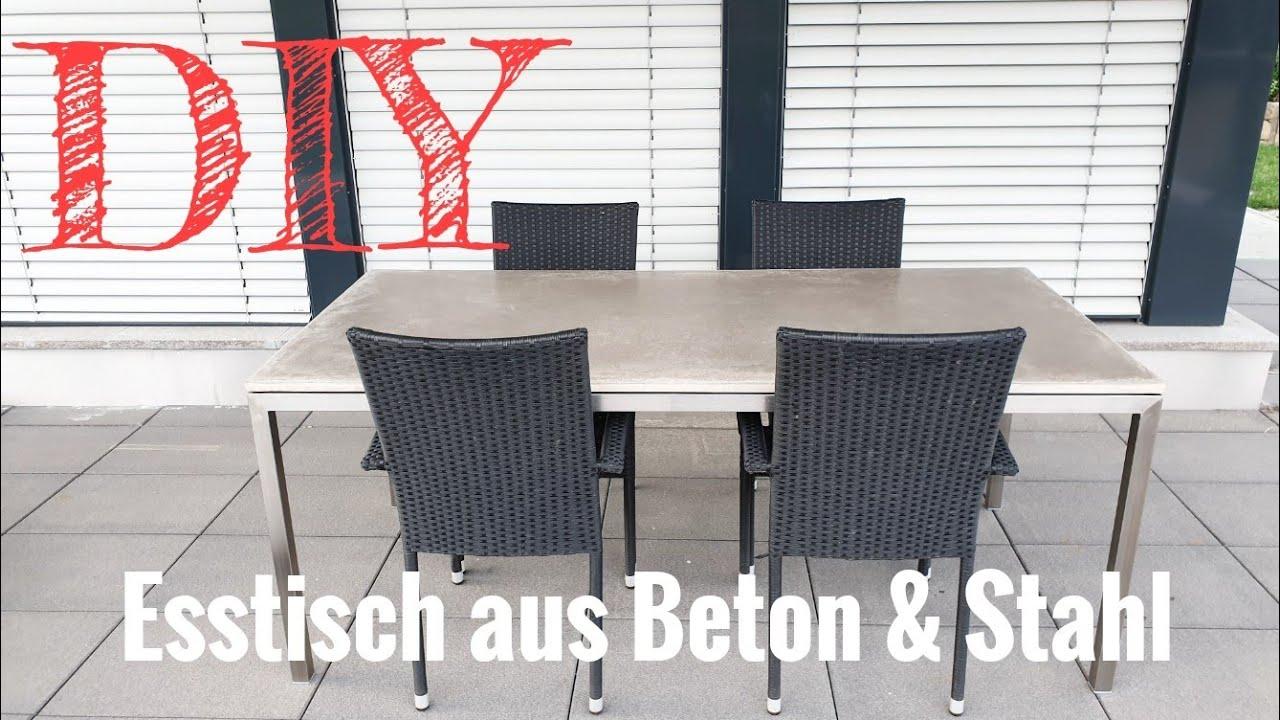 Häufig Eine Tischplatte aus Beton selber machen / Esstisch aus Beton EF18
