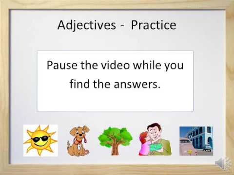 Adjectives (Part 1)  - Video and Worksheet