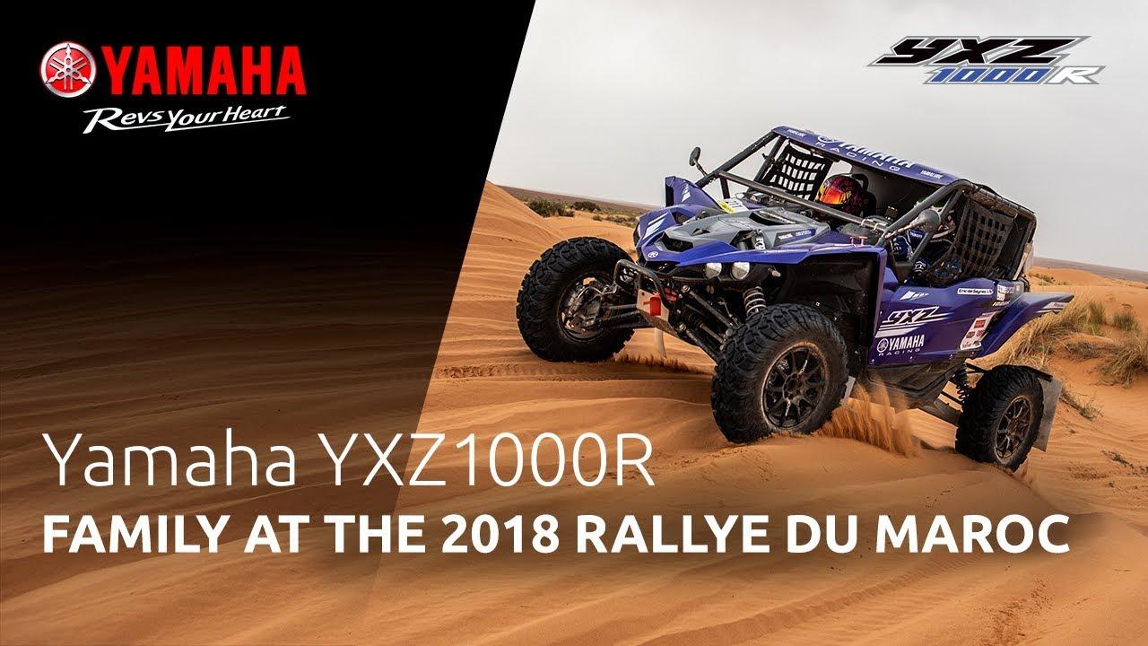 Yamaha YXZ1000R Family at the Rallye du Maroc