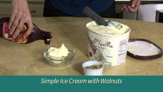 #simplygood Ice Cream With Walnuts