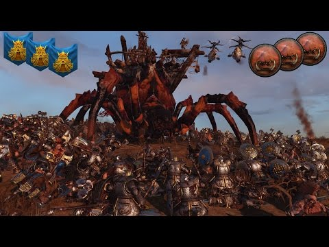 One of my Favorite Total War Warhammer Multiplayer Battles - Dwarfs vs. Greenskins 3v3