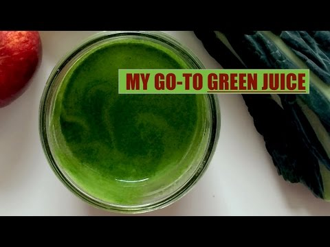 MY GO-TO GREEN JUICE // Energy, Glowing Skin, Decrease Sugar Craving