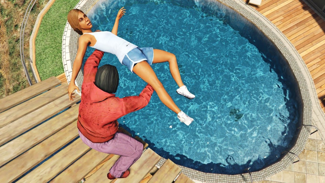 GTA 5 Water Fails   Pool jumps #3 [Euphoria physics]