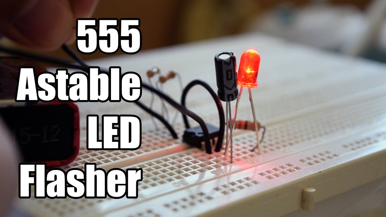 555 Timer Astable Led Flasher Youtube Operation Mode Circuit